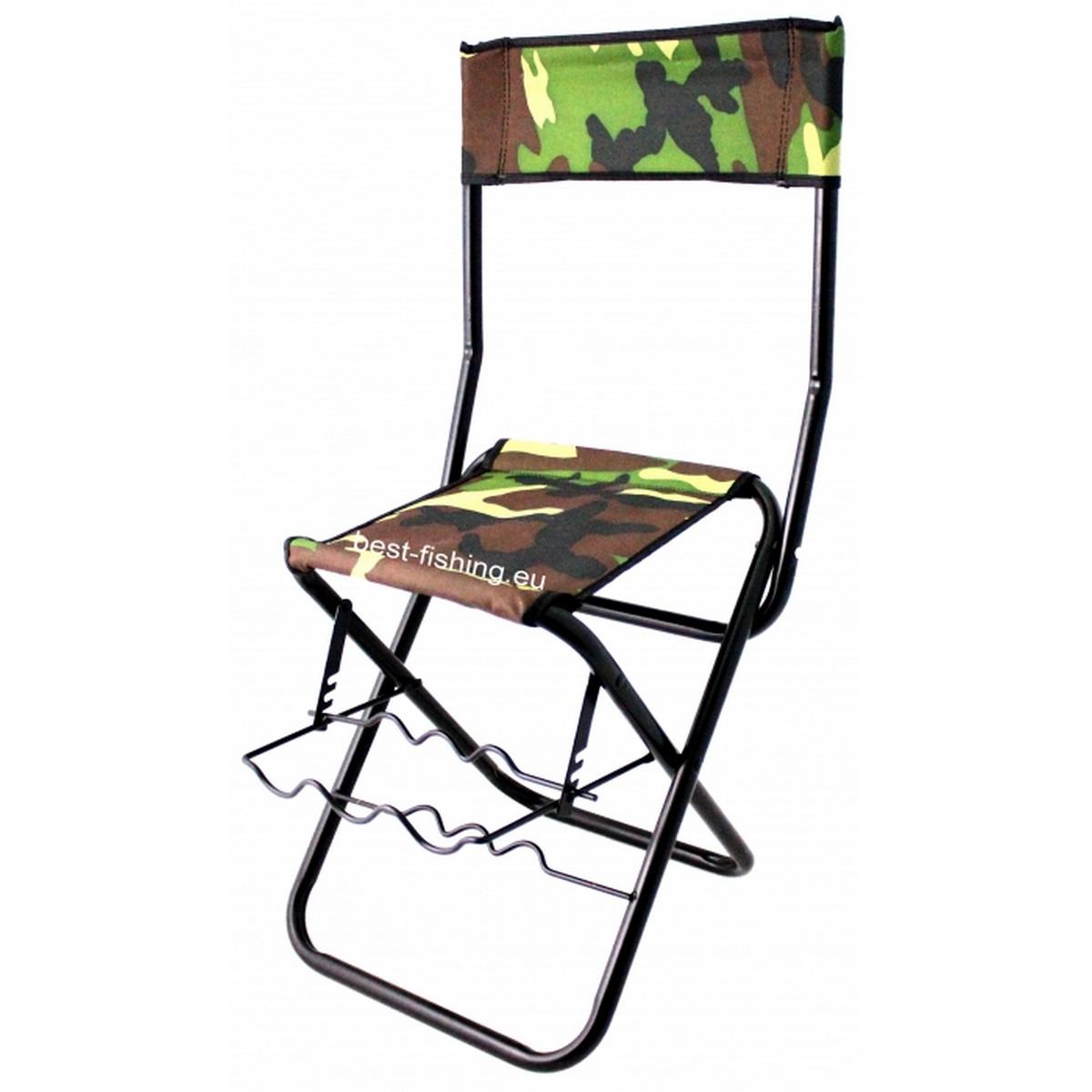 Столче с поставка за въдици и облегалка-0