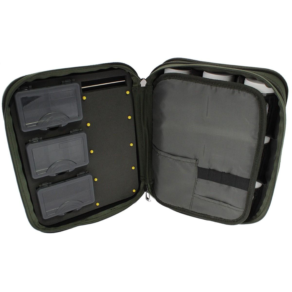 Carp Pro Tackle Bag 3 Boxes + 9 Bottles