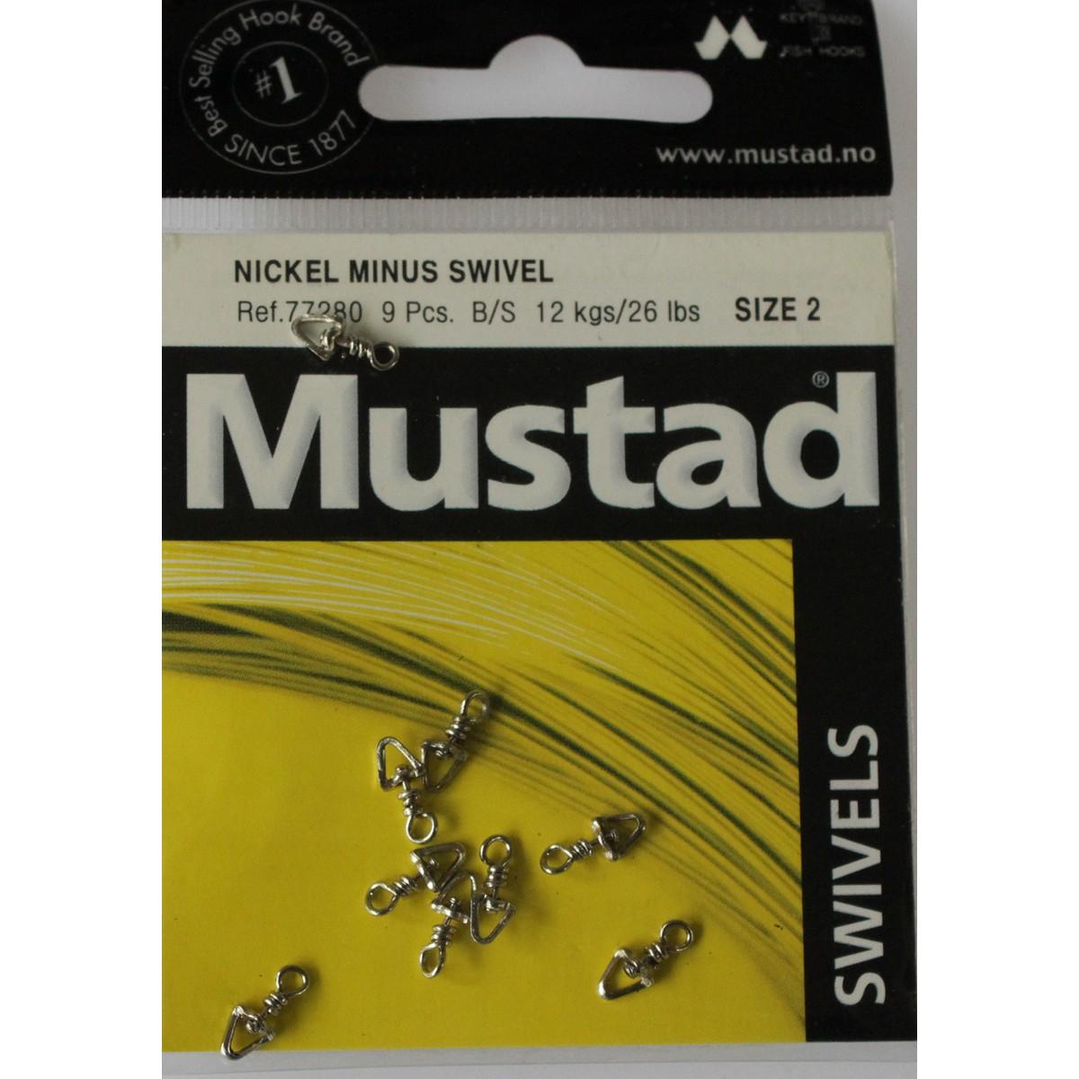 Вирбел Mustad Nickel Minus Swivel
