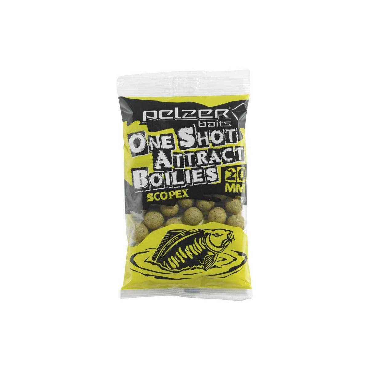 Pelzer One Shot Attract Boilies - протеинови топчета, скопекс 1