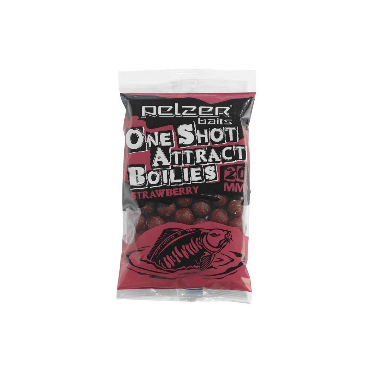 Pelzer One Shot Attract Boilies - протеинови топчета, ягода 1