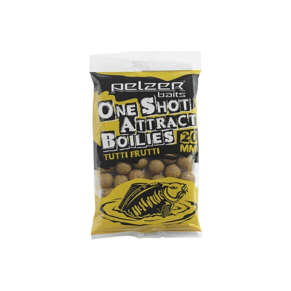Pelzer One Shot Attract Boilies - протеинови топчета, тути-фрути 1