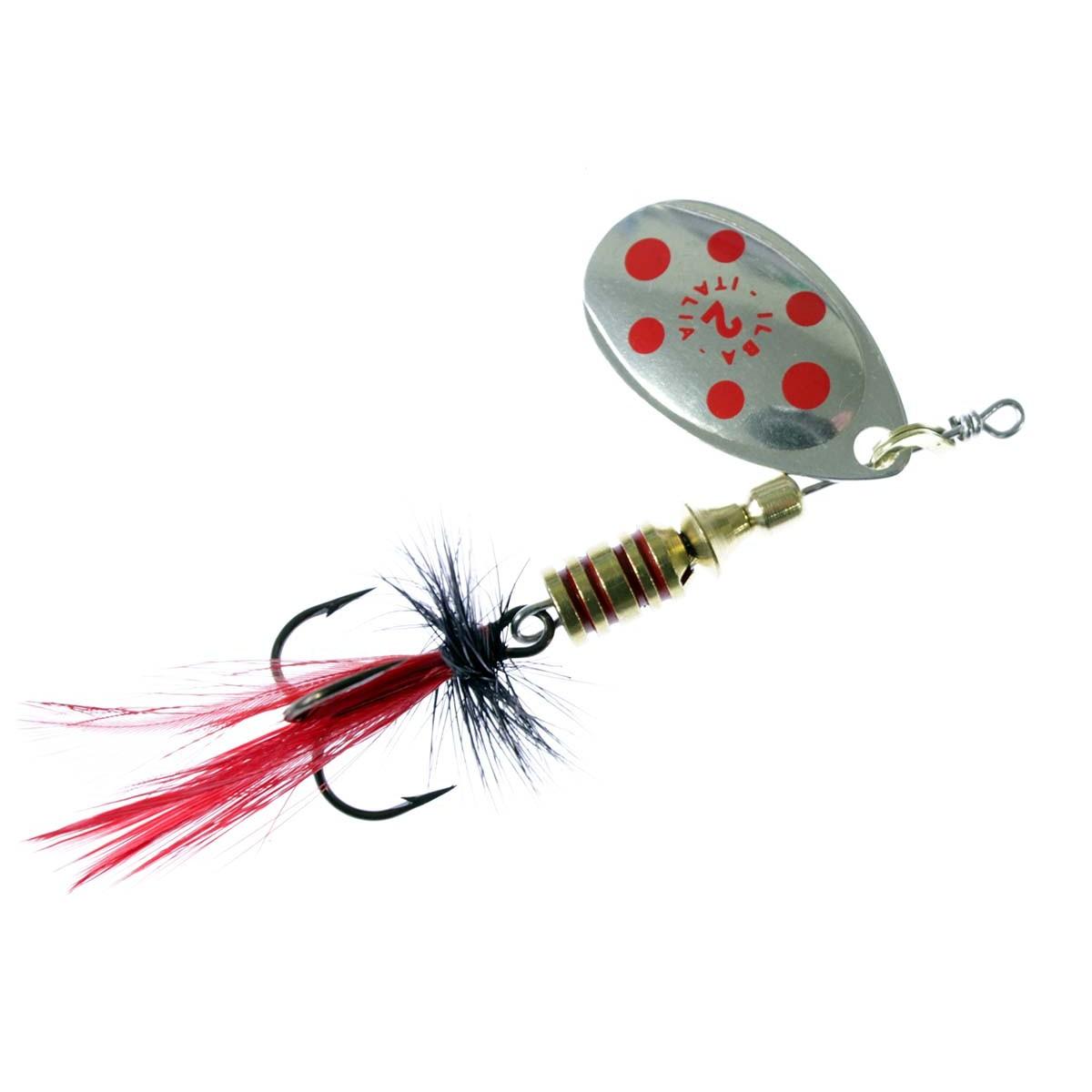 риболовна блесна ILBA Tondo Fly Silver-Red