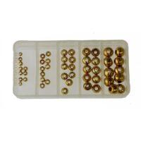 Глави за нимфи златни-мухарски материали