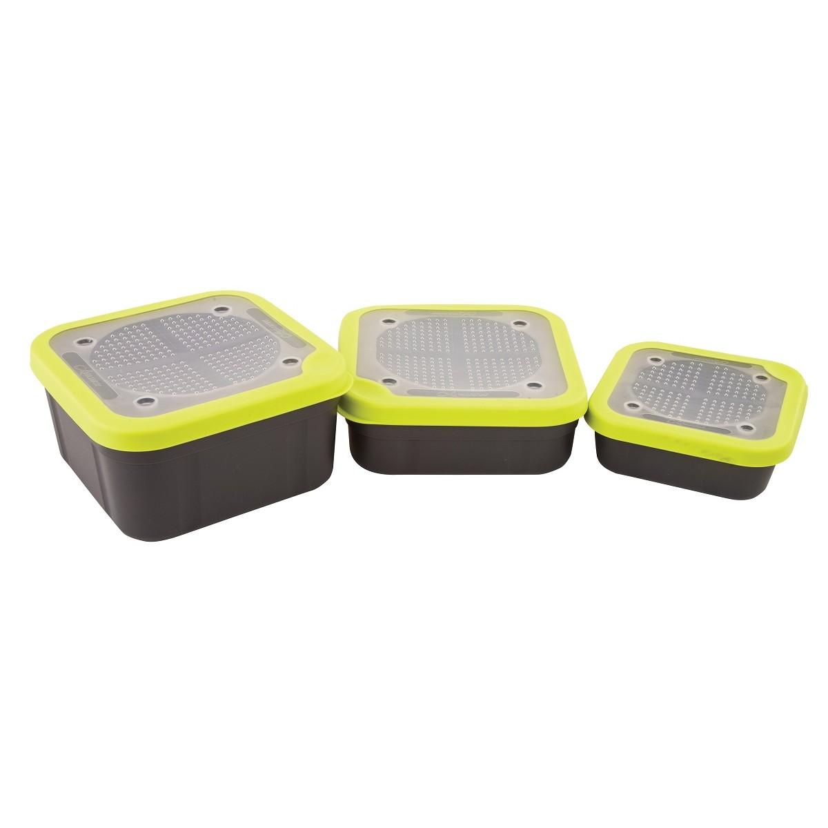 Кутия за стръв Matrix Grey/Lime с перфориран капак