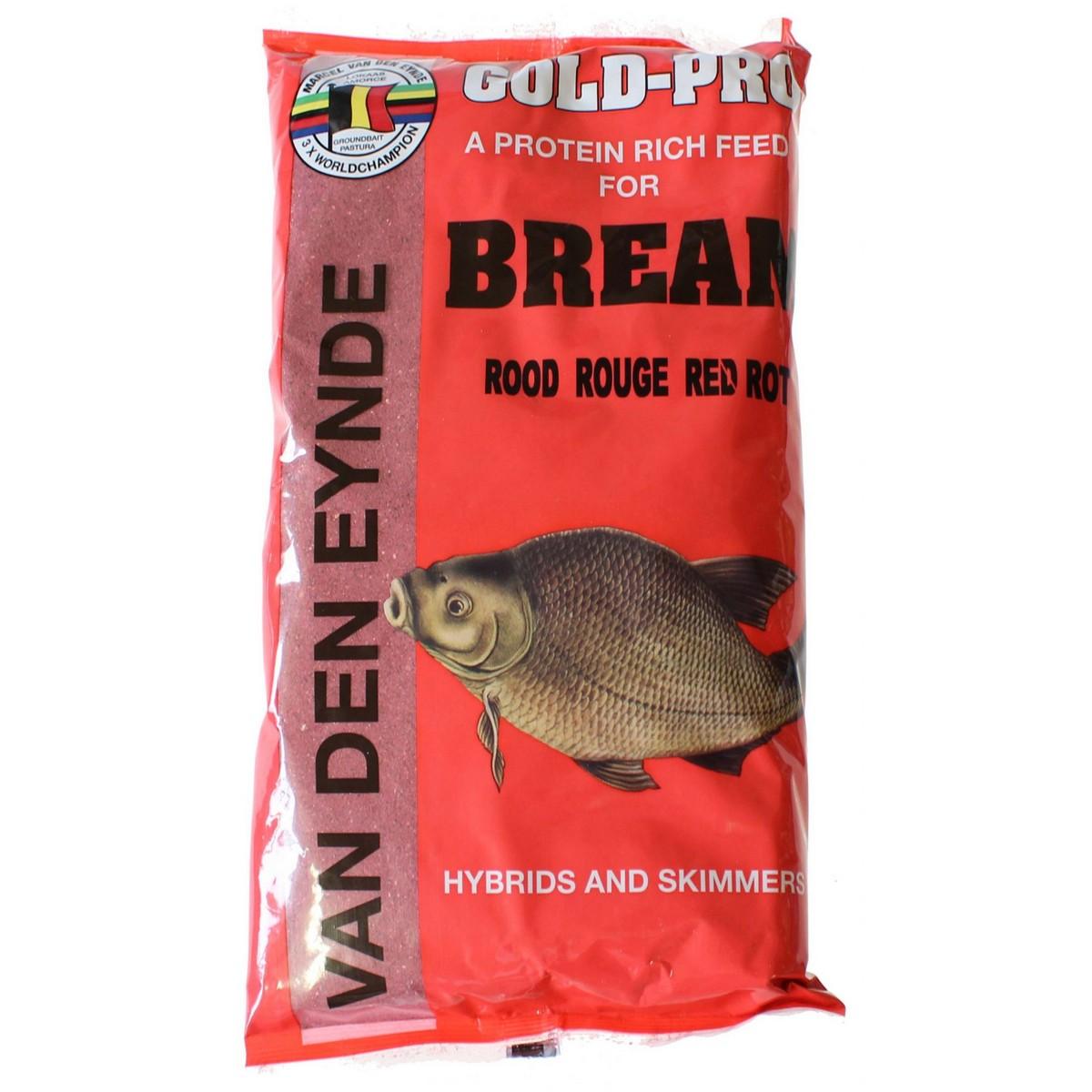 Захранка за риболов Gold-Pro Bream Red 1kg - Van Den Eynde