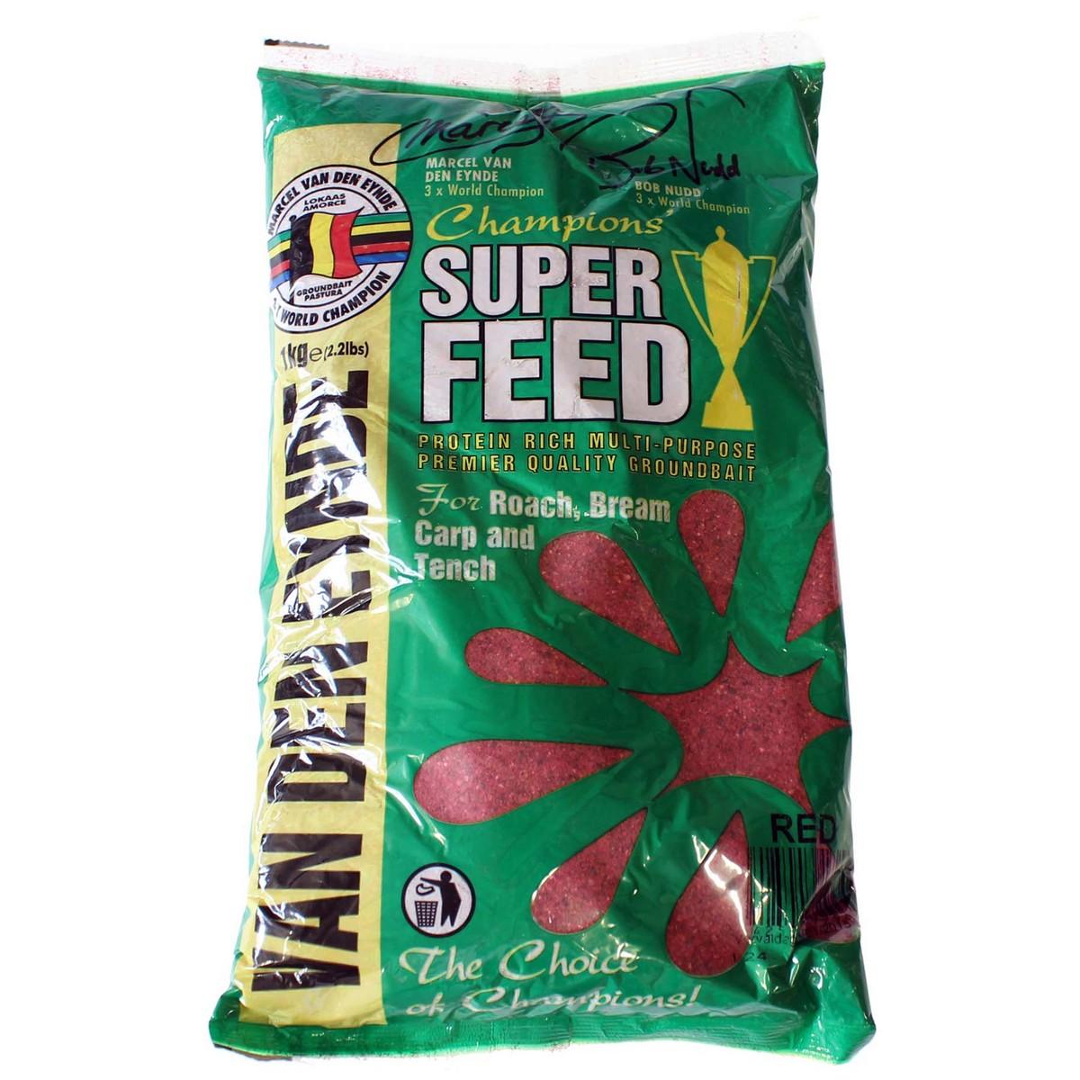 Захранка за риболов Super Feed Red 1kg - Van Den Eynde