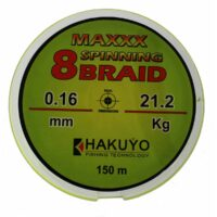 Hakuyo Maxxx Spinning 8 Braid 150m-плетено влакно