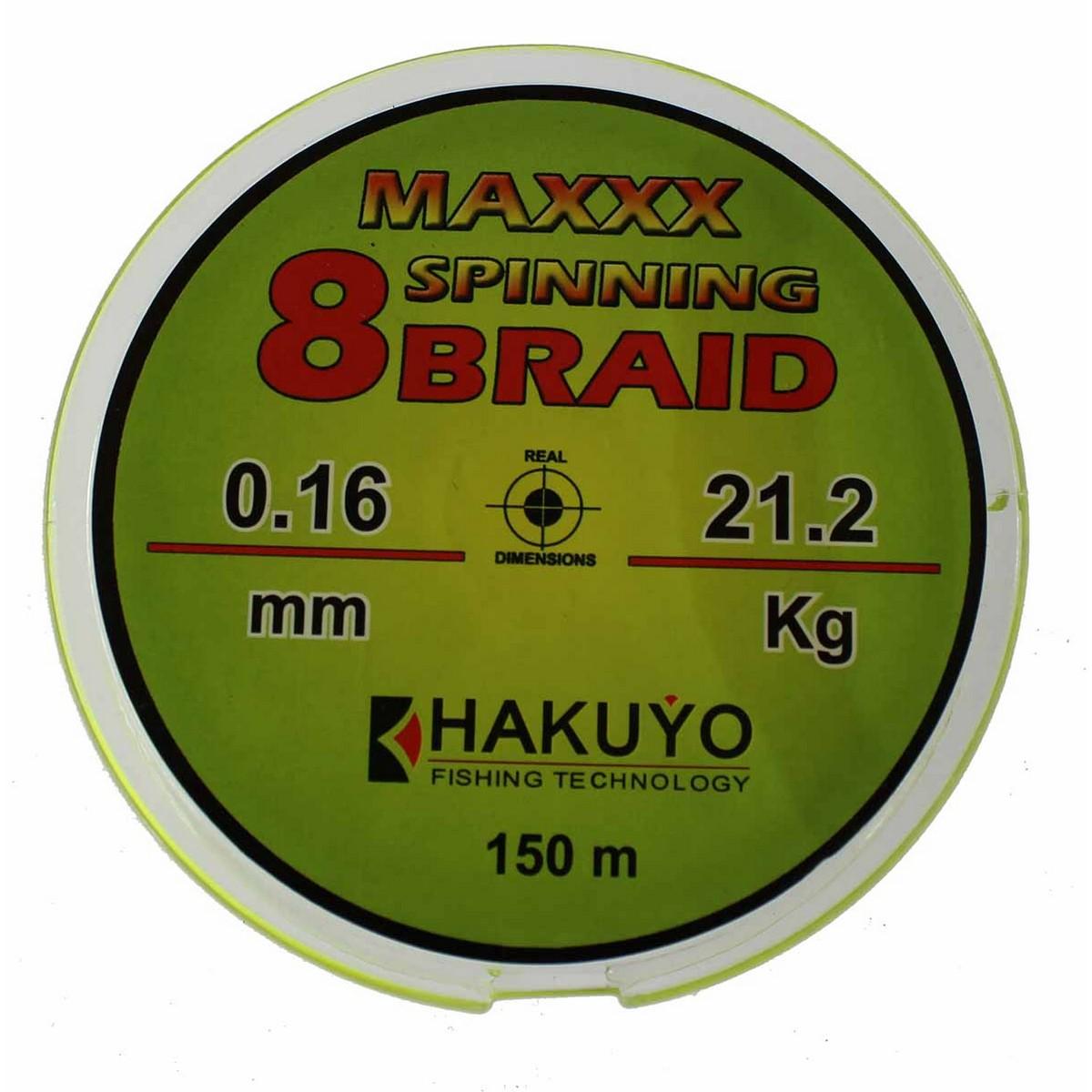 Hakuyo Maxxx Spinning 8 Braid 150m-плетено влакно