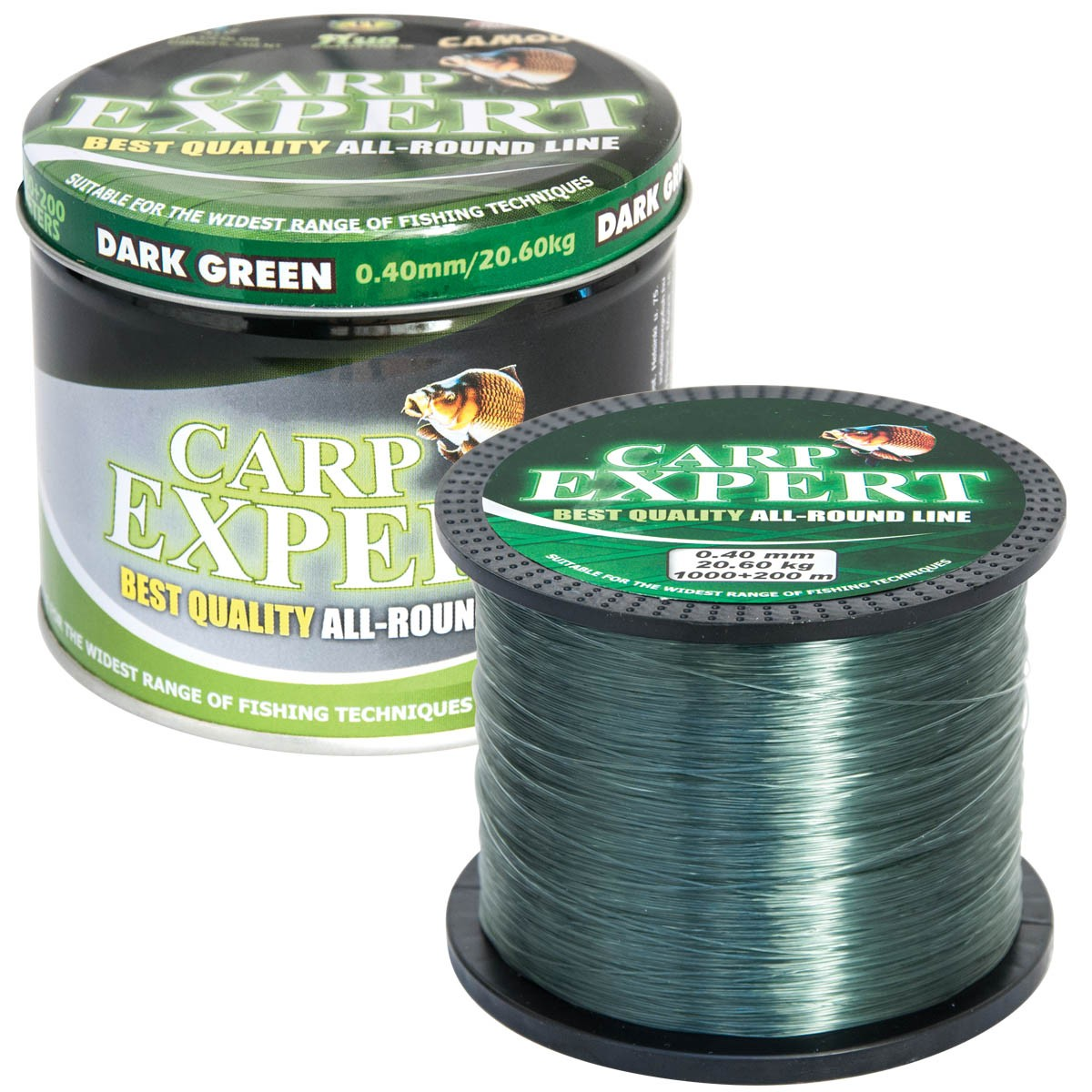 Риболовно влакно Carp Expert Dark Green 1200m