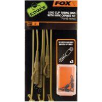 Комплект за монтаж Fox Edges Lead Clip Tubing Rigs Trans Khaki