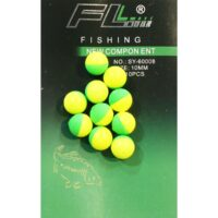 FL Pop-Up Floating Boilie 10mm Green/Yellow - бонджук