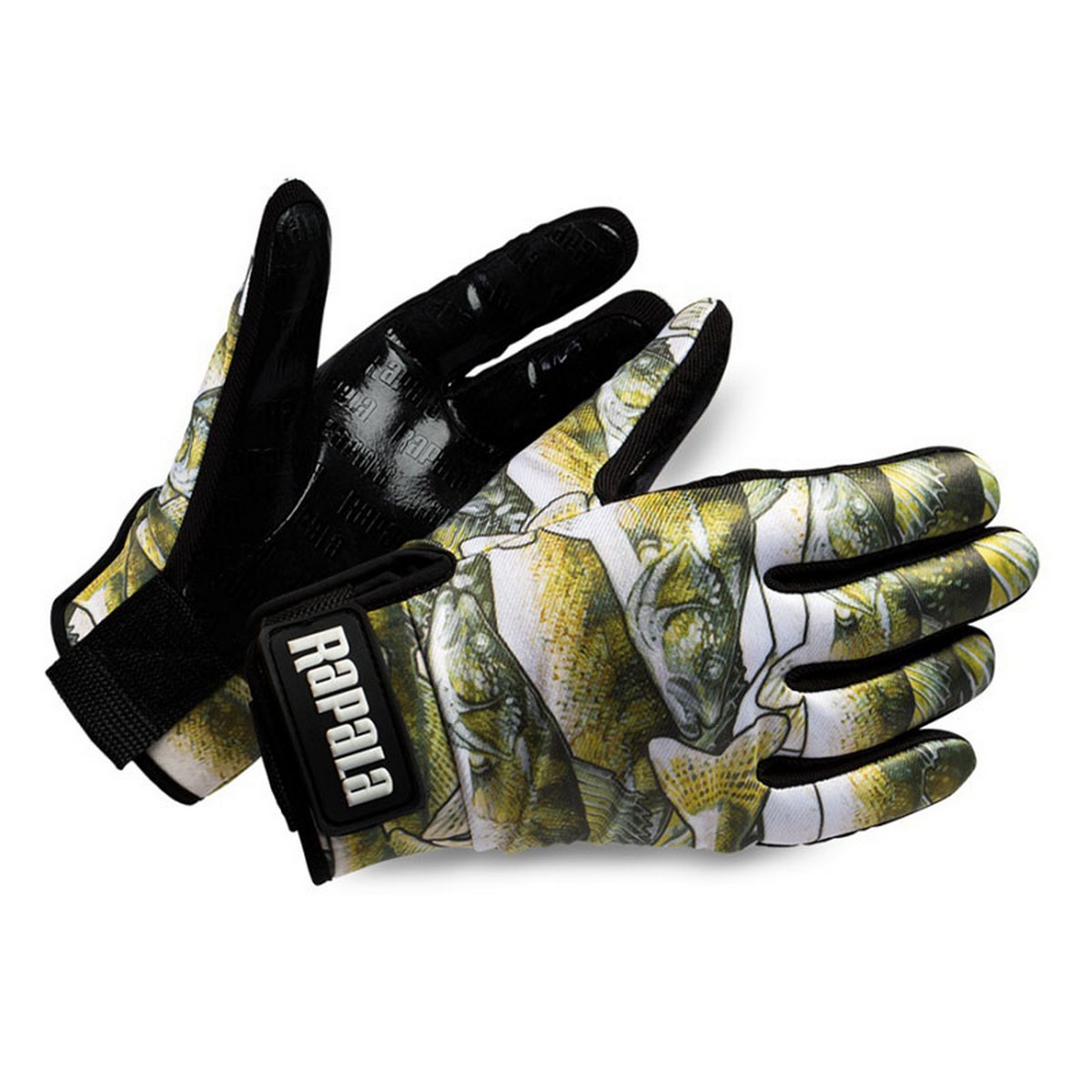 Ръкавици Rapala Stretch Grip Glove Fish Print Rubberized Palm