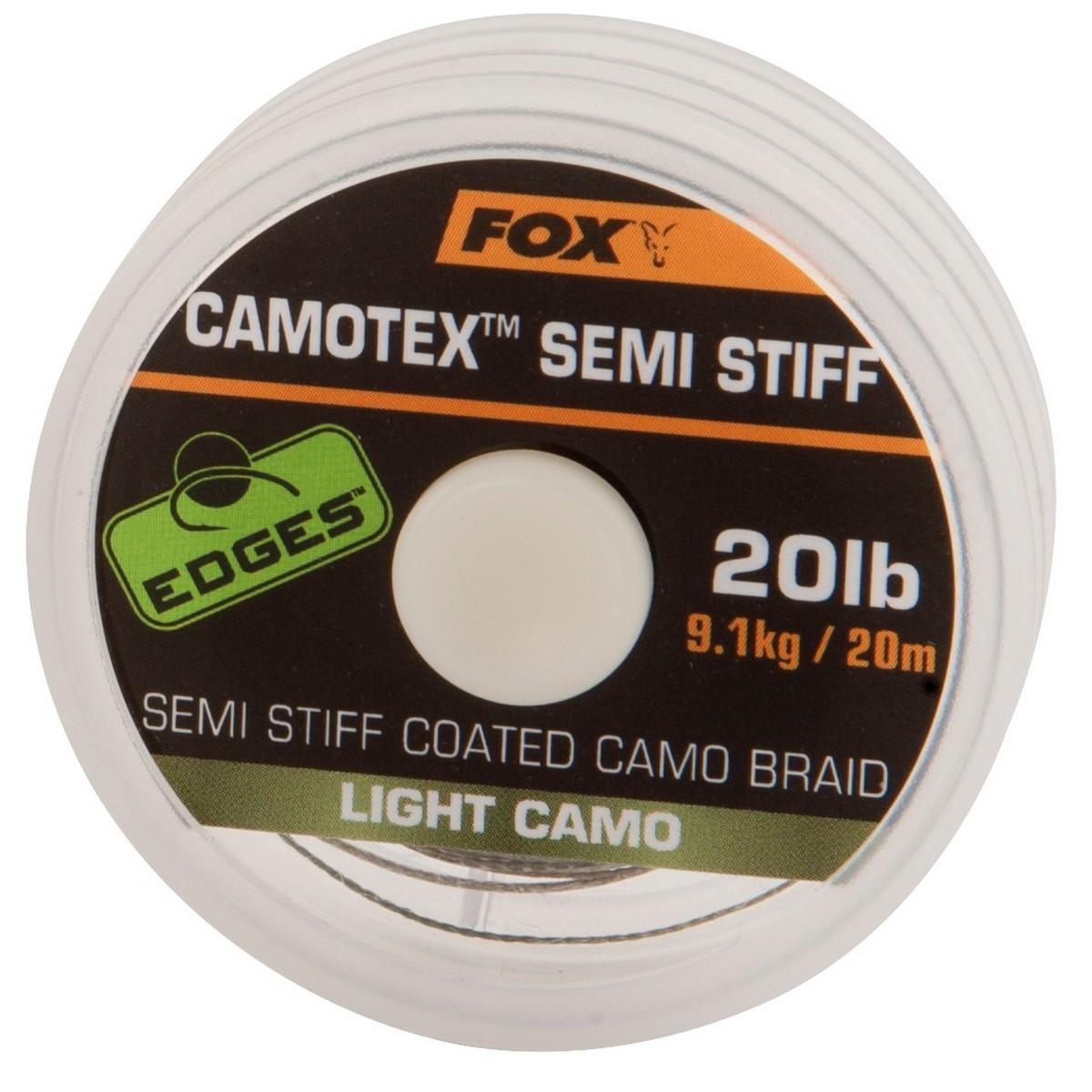 Риболовно влакно Fox Edges Camotex Semi Stiff Light Camo 20m