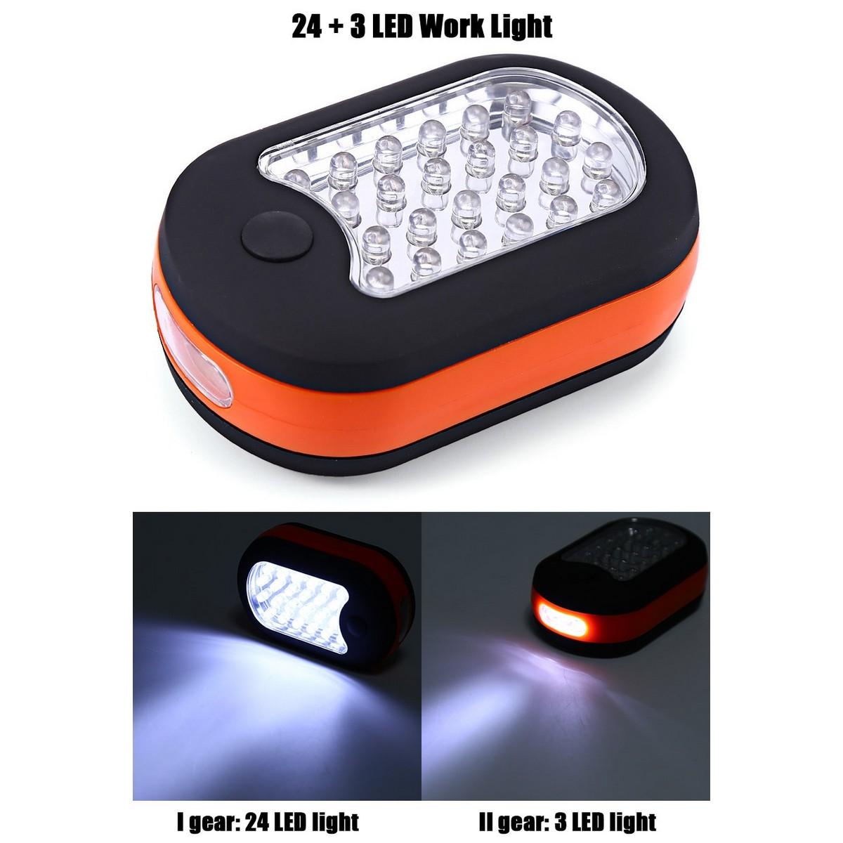 Фенер със светещ панел 24+3 LED диода
