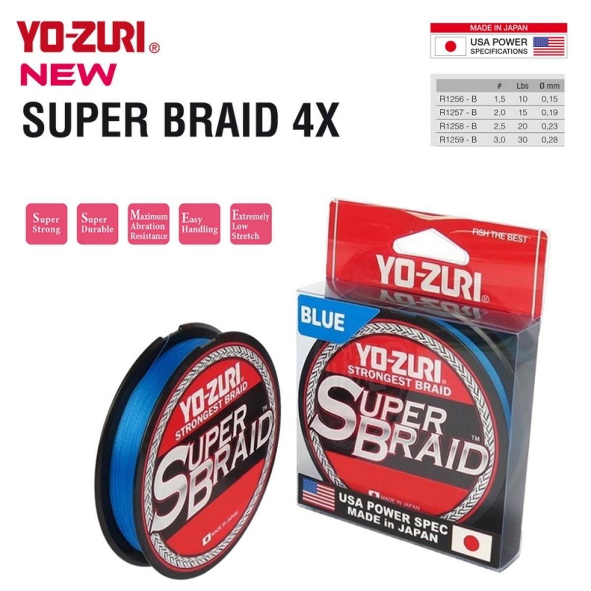 Плетено влакно Yo-Zuri Super Braid 4x