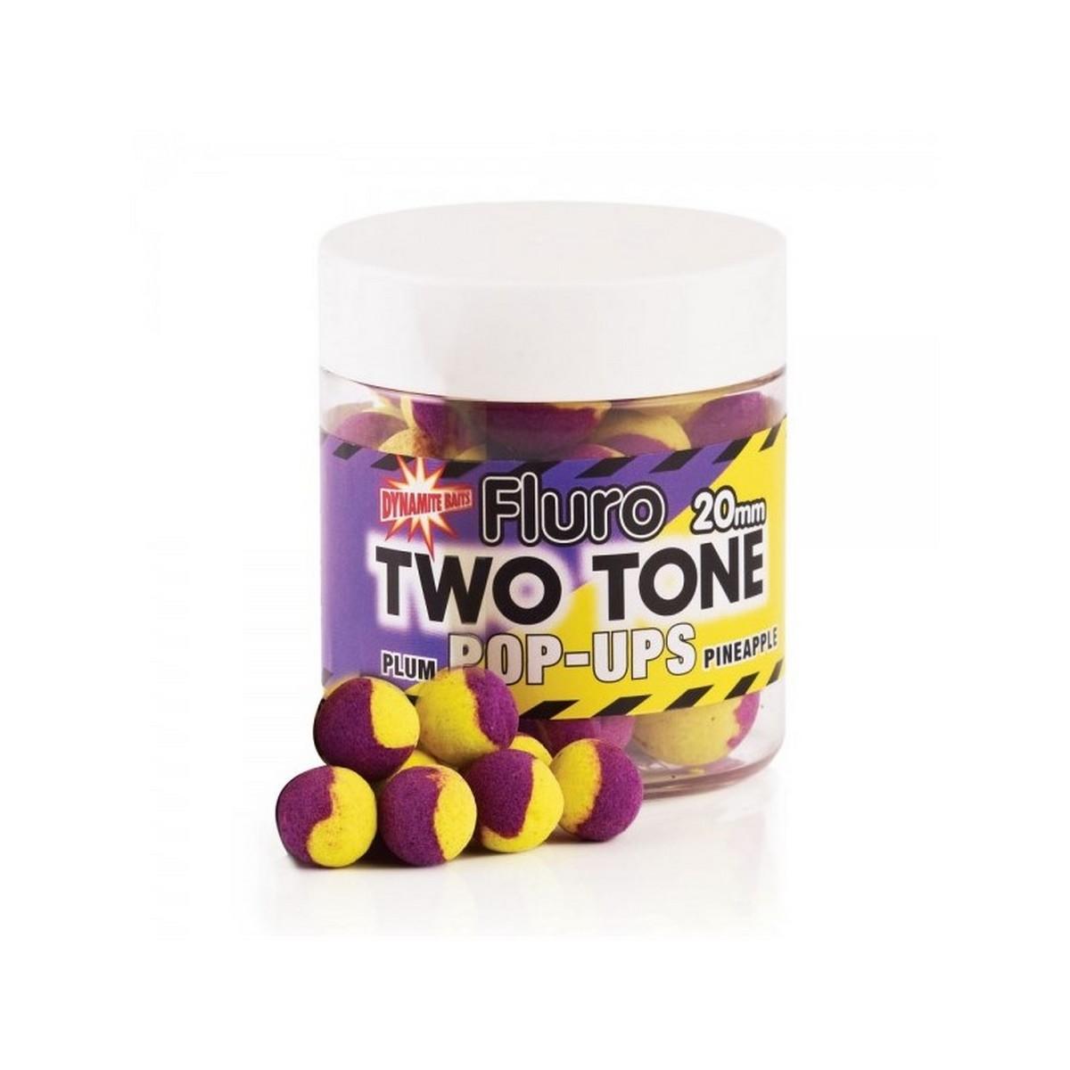 DB Boilie Pop-Up Fluro Two Tone Plum & Pineapple - плуващи двуцветни топчета