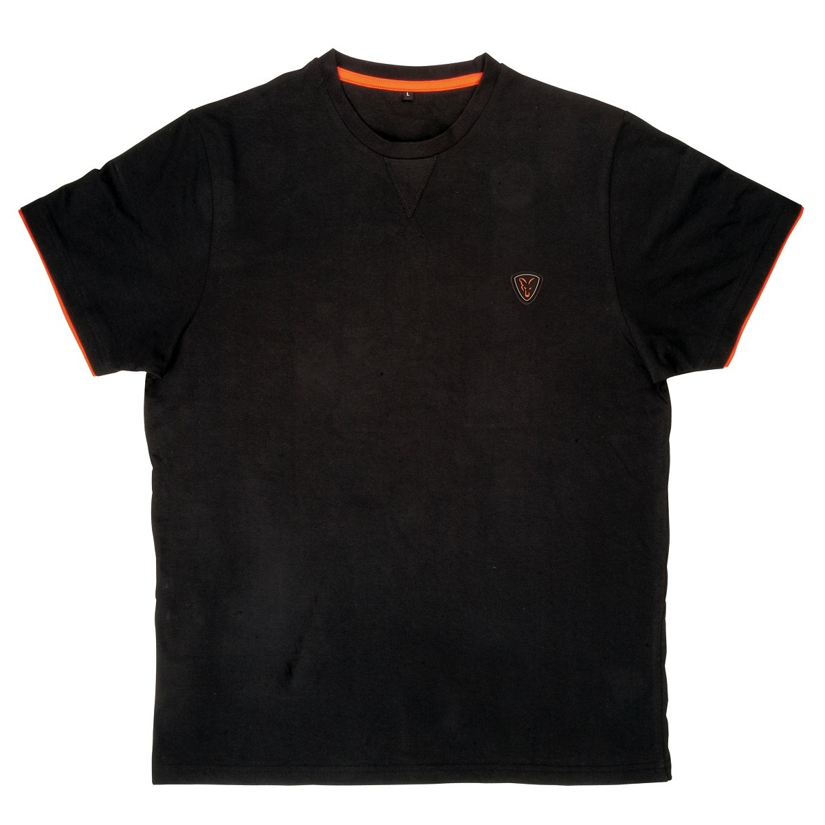 ТЕНИСКА COTTON T-SHIRT BLACK/ORANGE FOX