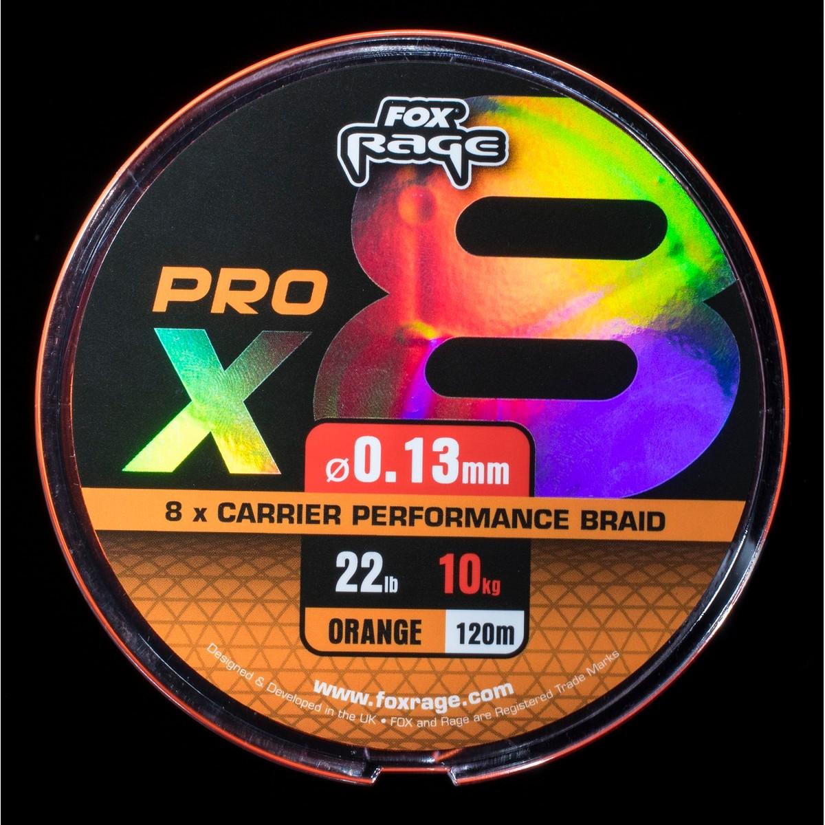 Fox Rage Pro X8 Performance Braid Orange 120m