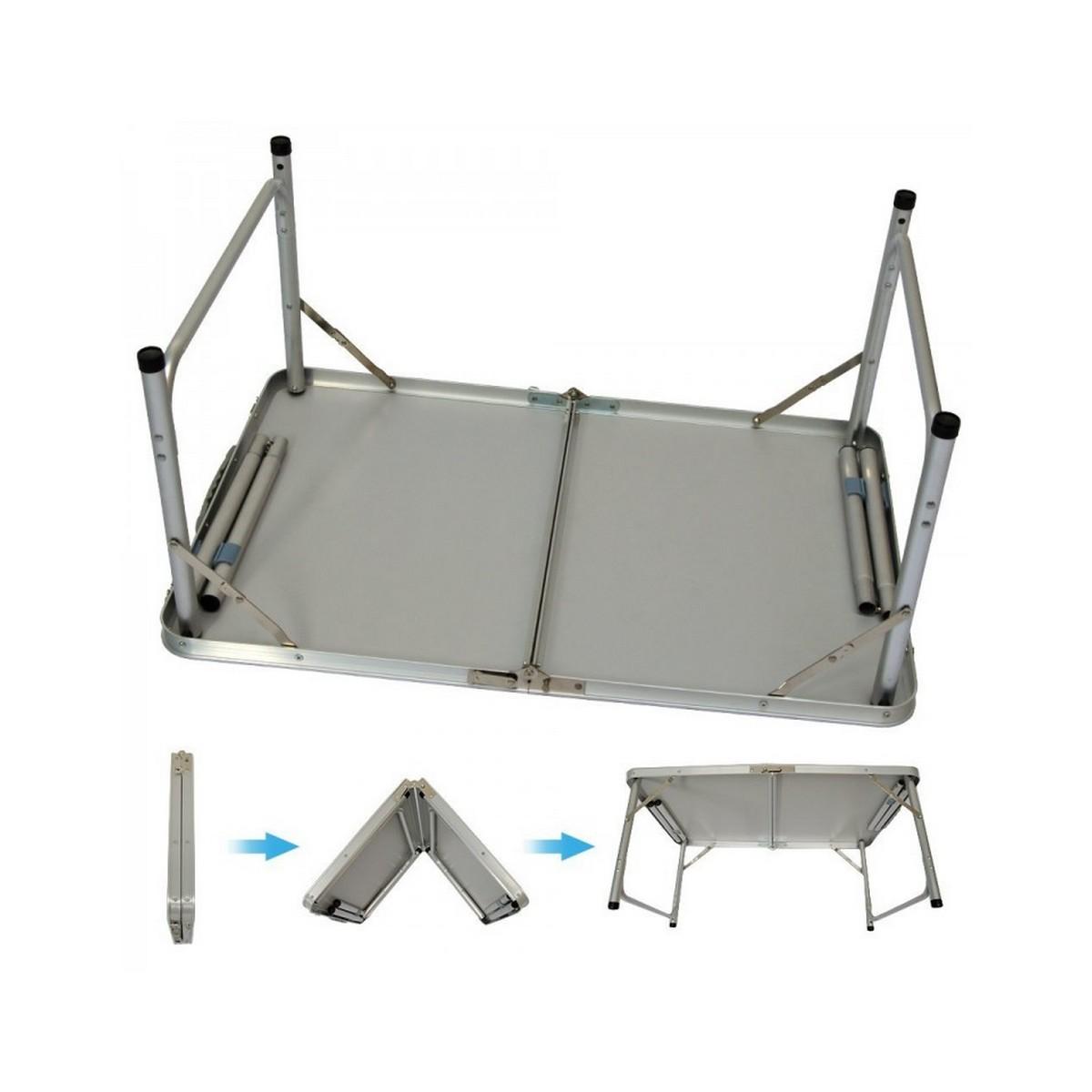 Пикник маса сгъваема голяма + 4 столчета