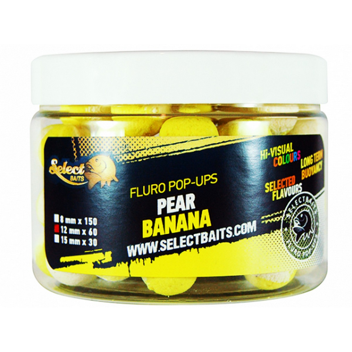Select Baits Fluoro Two Tone Pear Banana Pop-up – плуващи двуцветни топчета