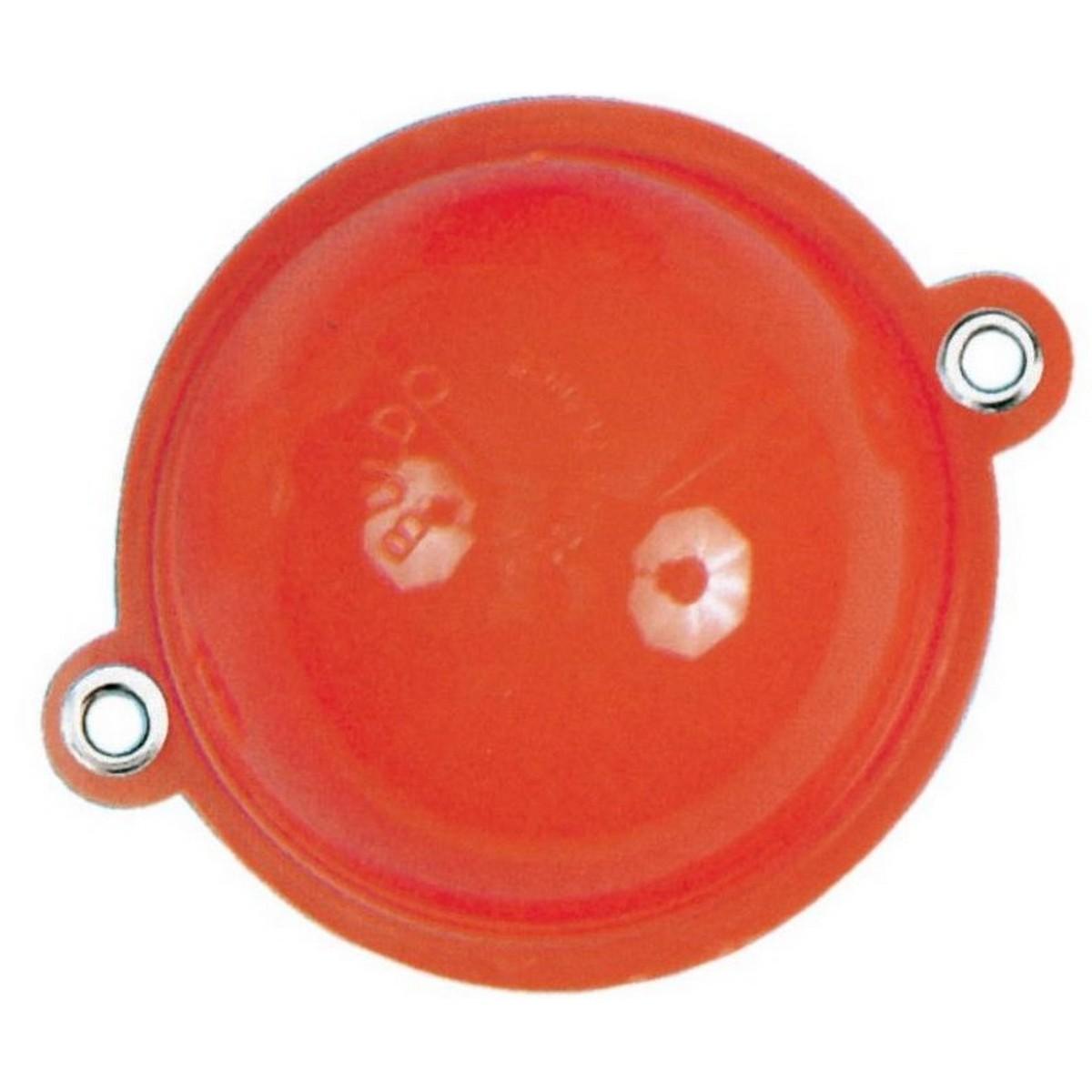 Булдо кръгло силиконово червено