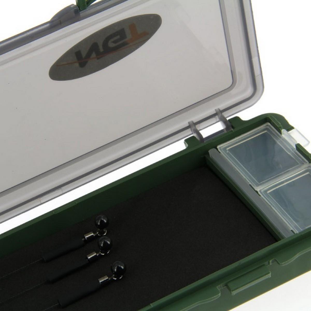 Кутия за поводи и монтажи NGT Plastic Stiff Rig Board with Pins