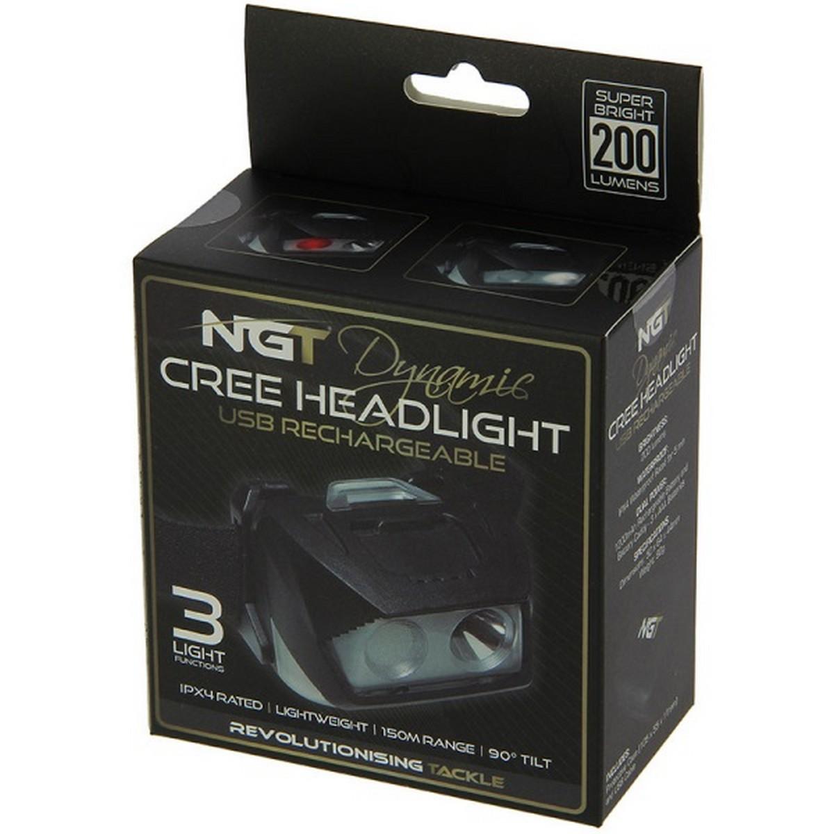 Фенер за глава NGT Dynamic Cree Light - 200 Lumens