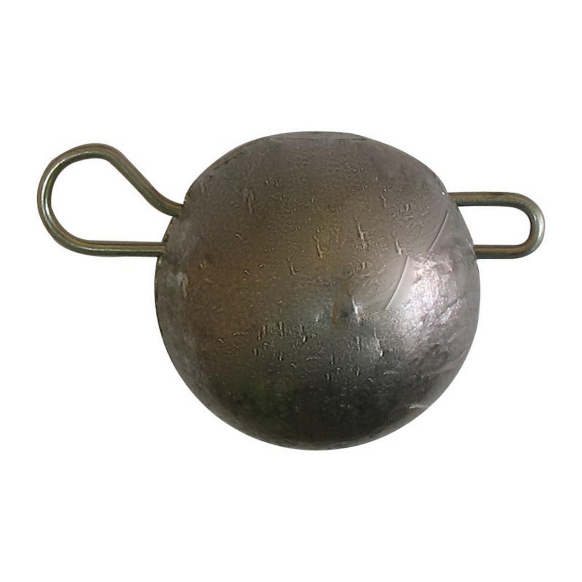 Чебурашка кръгла черна с подв.карабинка
