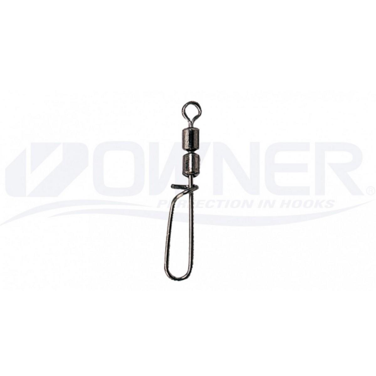 Двоен вирбел с карабина Owner Sinker Hook W Crane Swivel