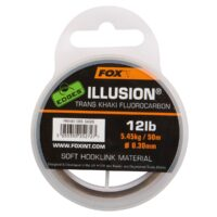 Fox EDGES Illusion Trans Khaki Fluorocarbon Soft Hooklink 50m