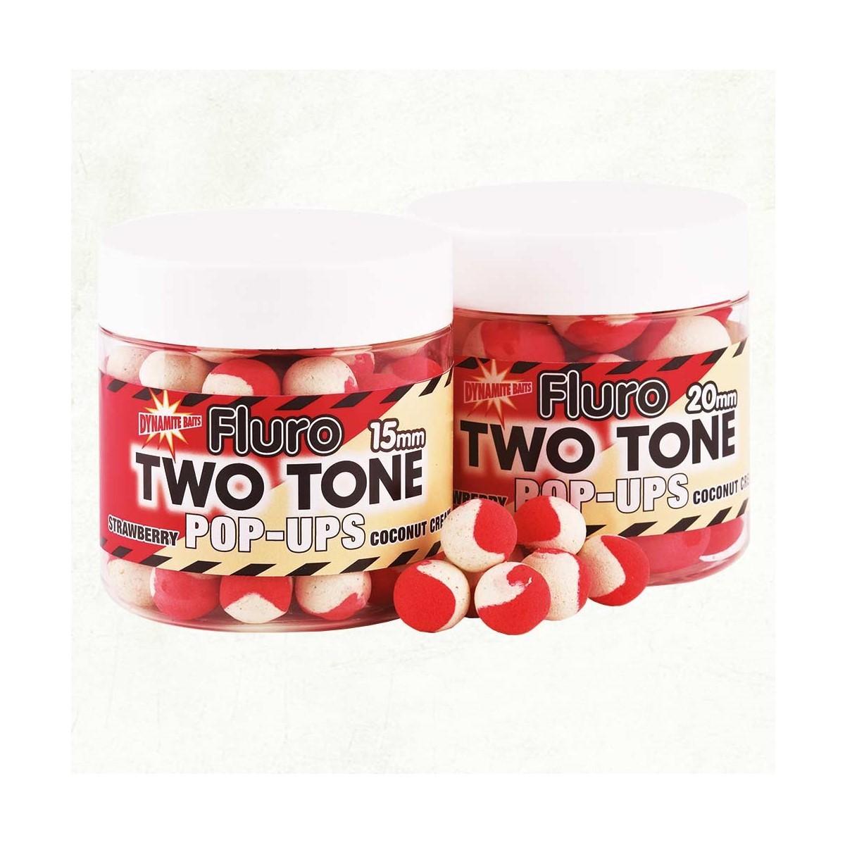 DB Boilie Pop-Up Fluro Two Tone Strawberry & Coconut - плуващи двуцветни топчета