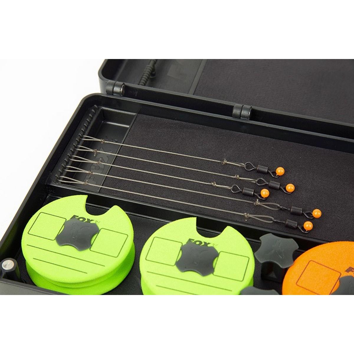 Кутия-класьор за поводи Fox F-Box Magnetic Disc & Rig Box System Large