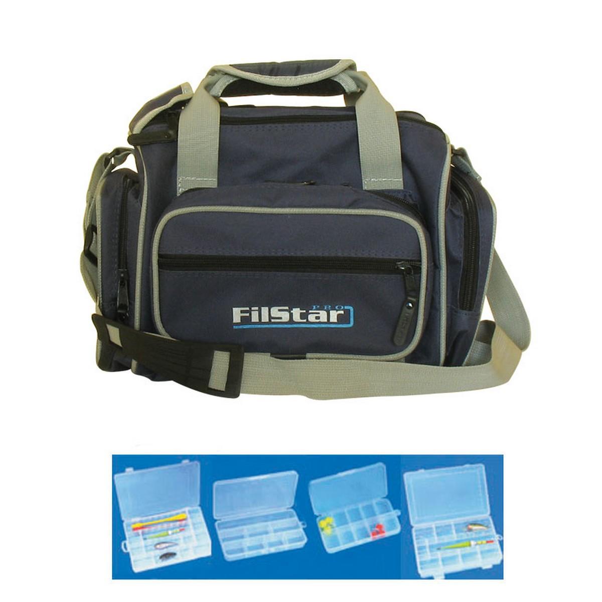 Чанта за спининг с 6 кутии FilStar De Luxe KK24