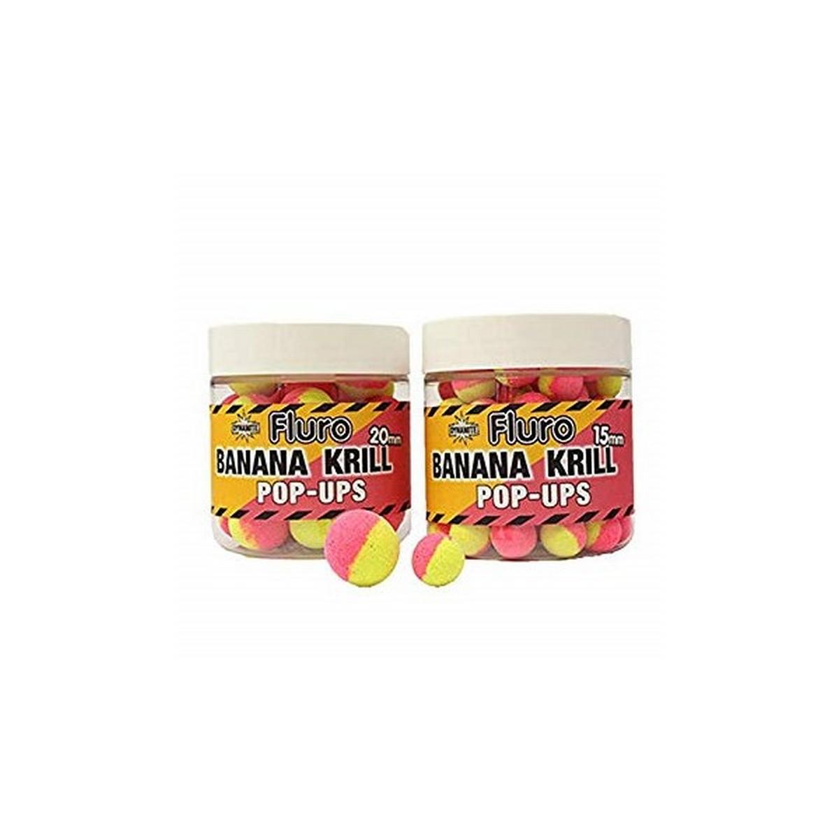 DB Boilie Pop-Up Fluro Two Tone Banana & Krill – плуващи двуцветни топчета
