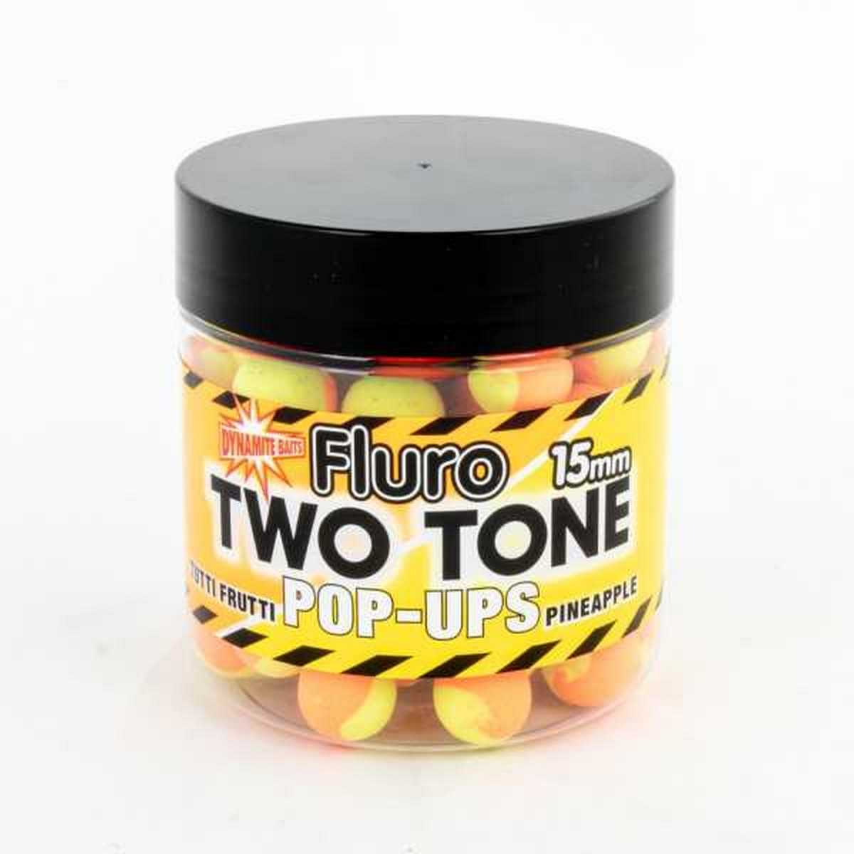 DB Boilie Pop-Up Fluro Two Tone Tutti Frutti & Pineapple – плуващи двуцветни топчета
