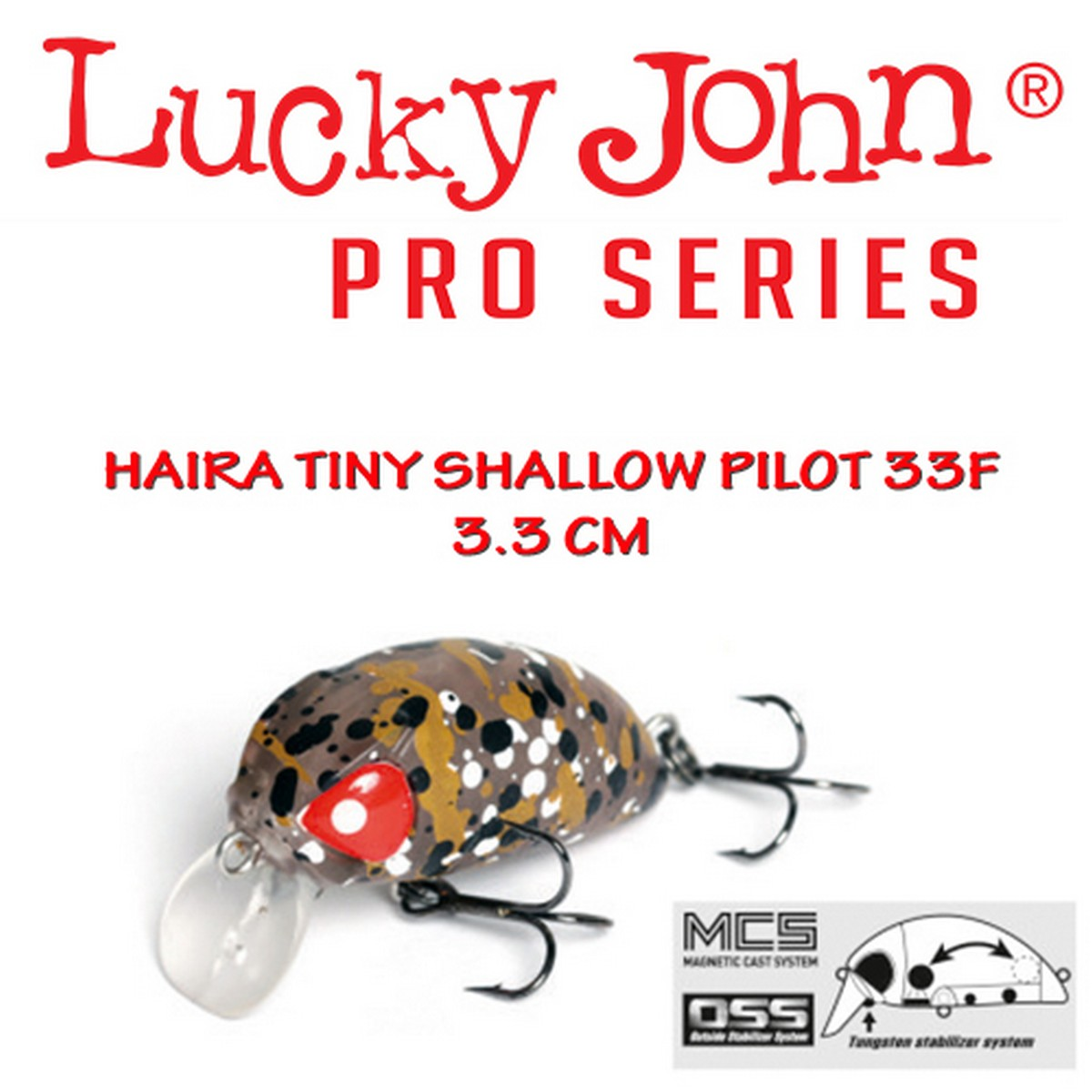 Воблер Lucky John Haira Tiny Shallow Pilot 33F