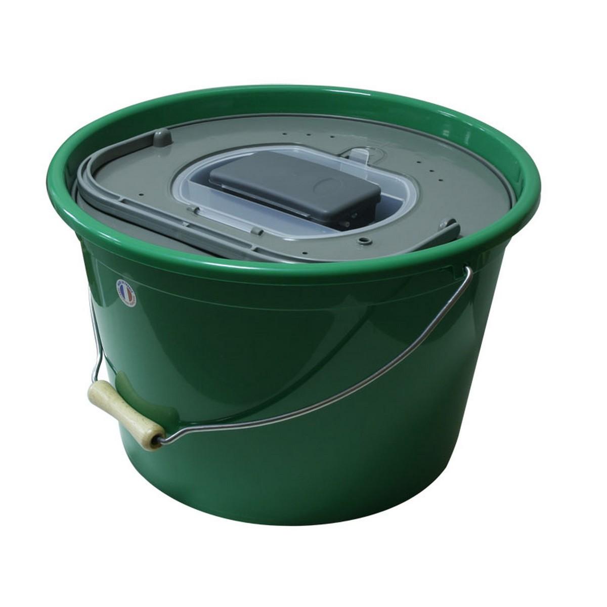 Кофа за жива стръв 25 литра кръгла с помпа