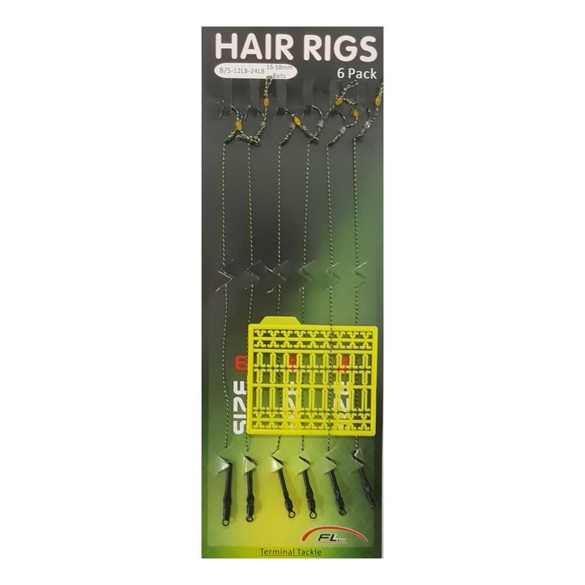 Куки вързани на косъм със стопери FL Hair Rigs Stop