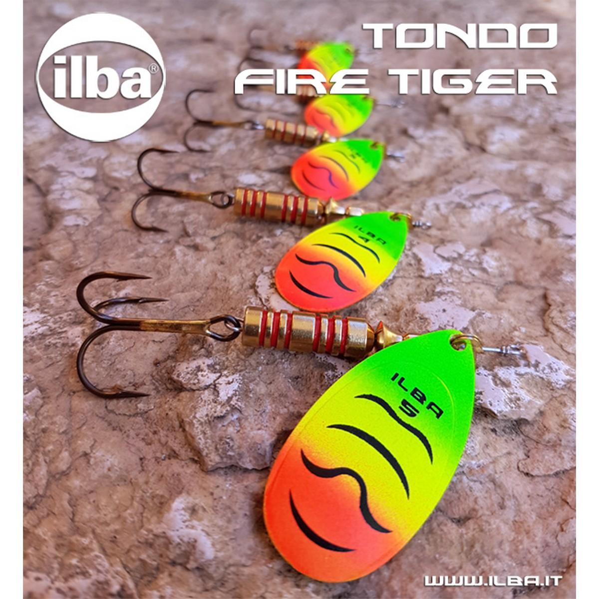 Блесна ILBA Tondo Fire Tiger