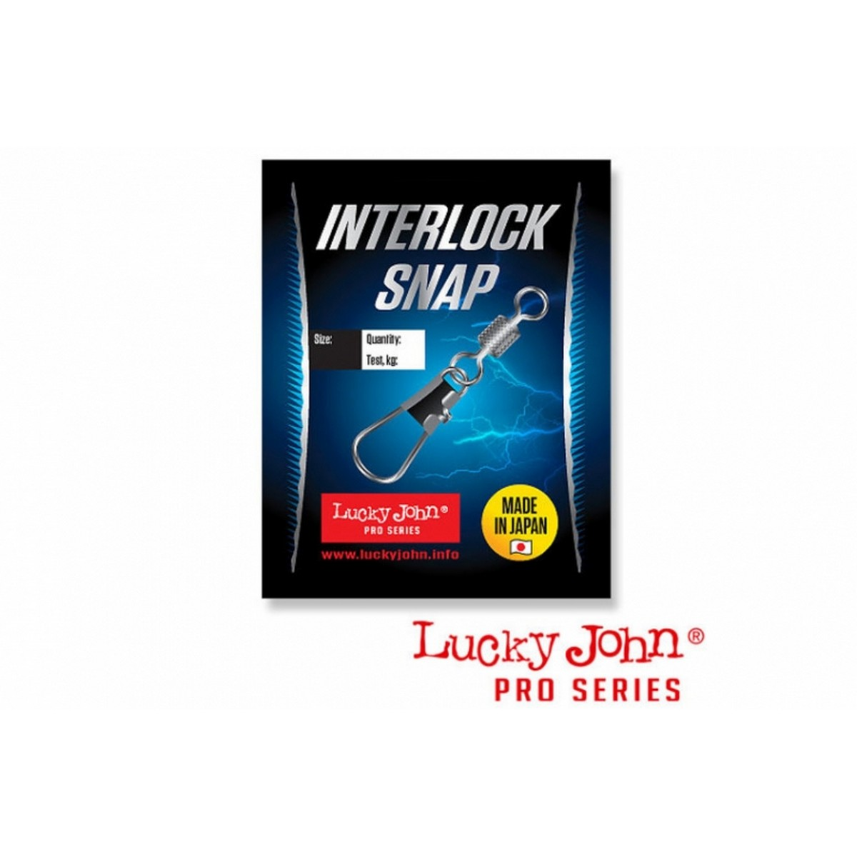 Вирбел с карабинка Lucky John Interlock Snap