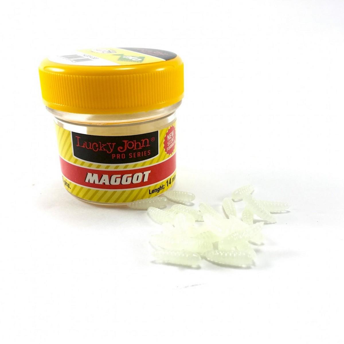 Изкуствен бял червей Lucky John Maggot 1.4cm