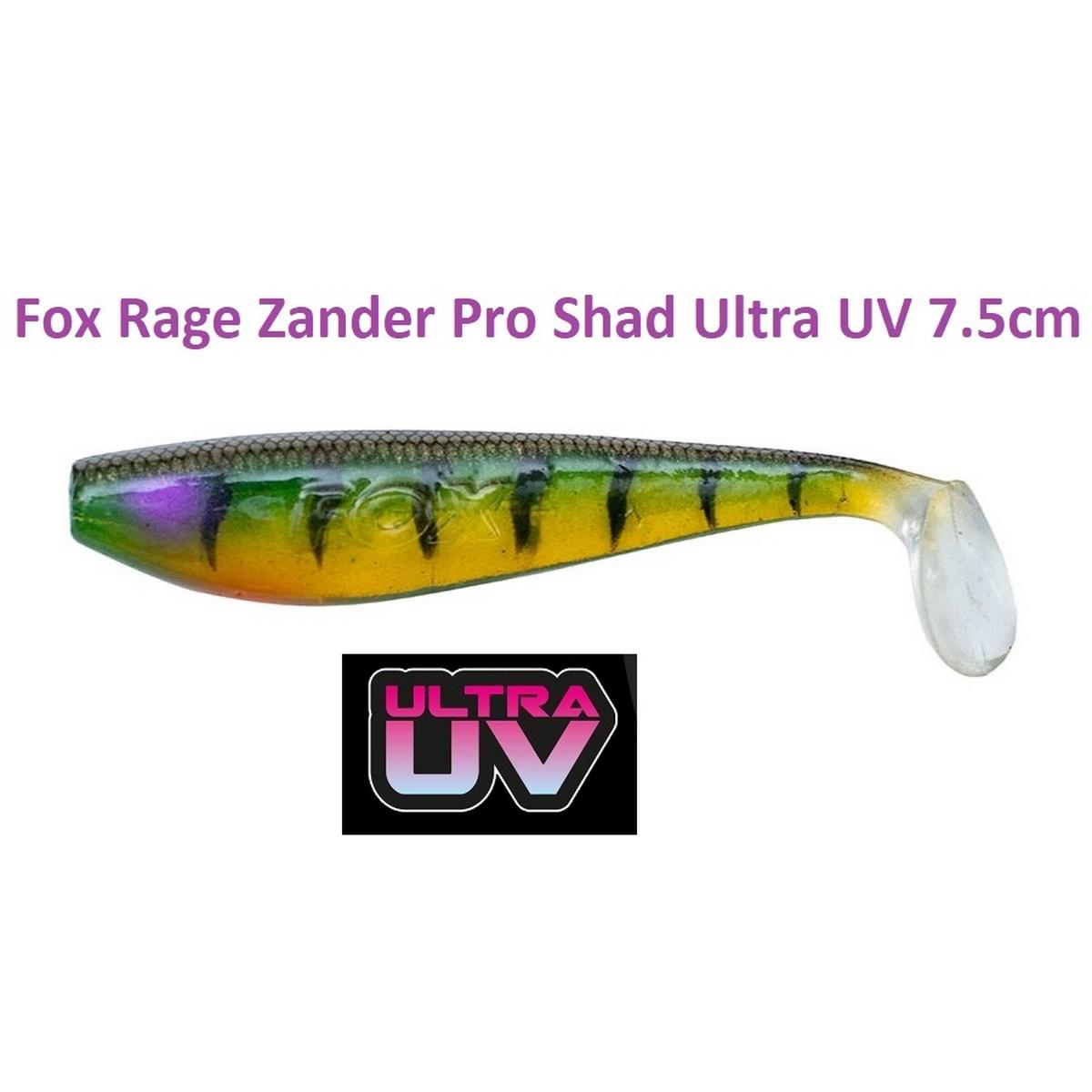Силиконова примамка Fox Rage Zander Pro Shad Ultra UV 7.5cm