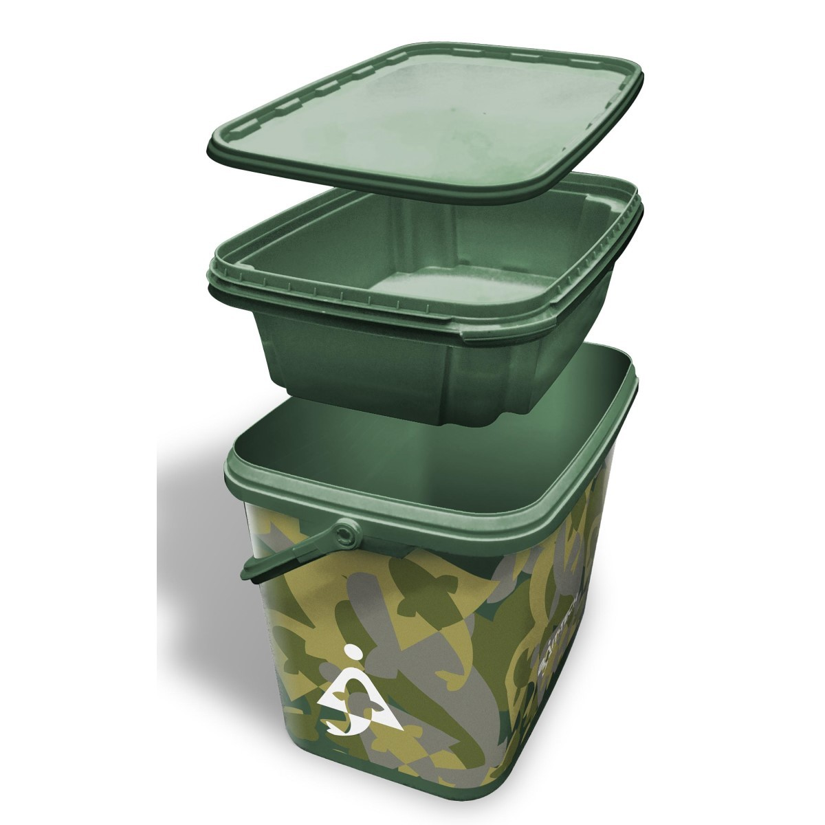 Bait-Tech Utility Camo Bucket with Insert Tray
