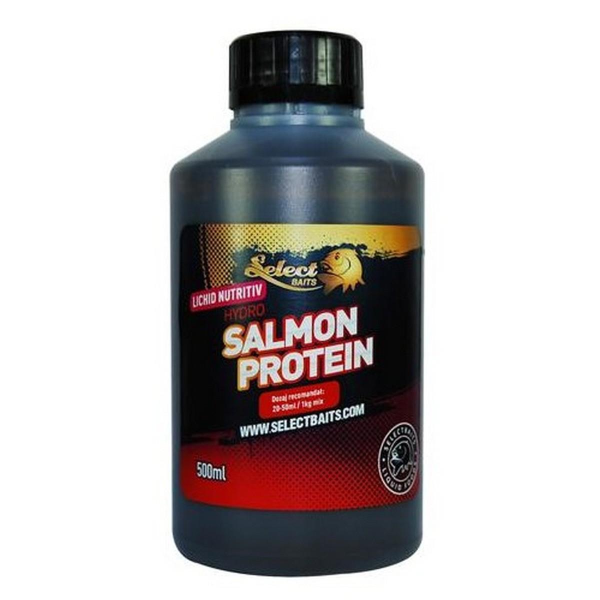 Хранителна течност Hydro Salmon Protein 500ml Select Baits
