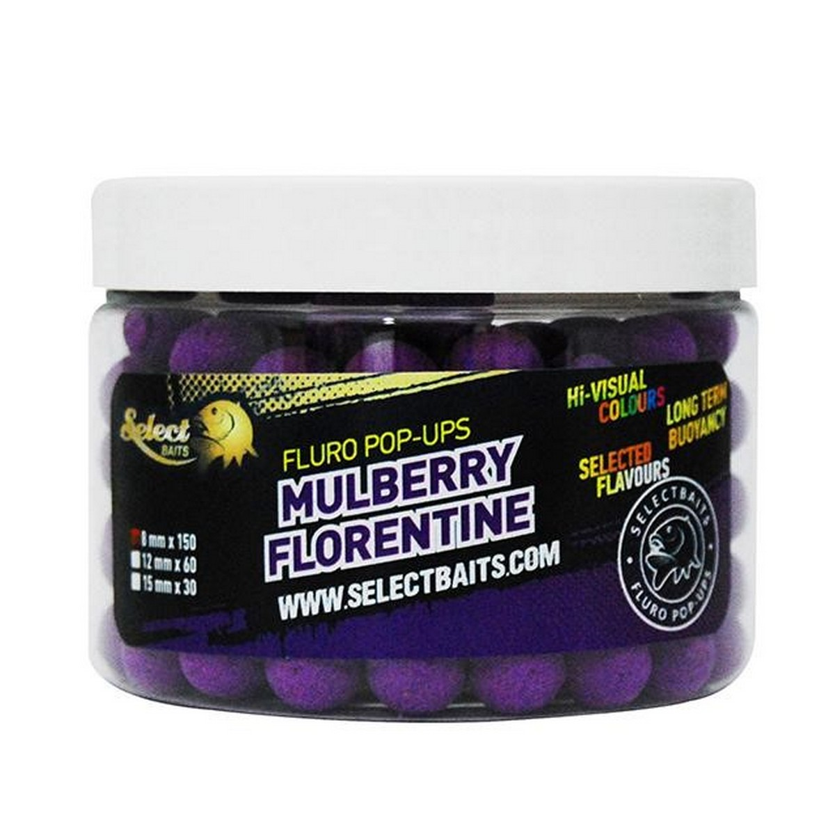 Select Baits Fluoro Purple Mulberry Florentine Micro Pop-up 8mm плуващи топчета