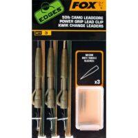 Комплект за монтаж Fox Edges 50lb Camo Leadcore Power Grip Lead Clip Kwik Change Leaders