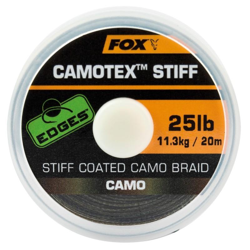 Плетен повод Fox Edges Camotex Stiff Camo