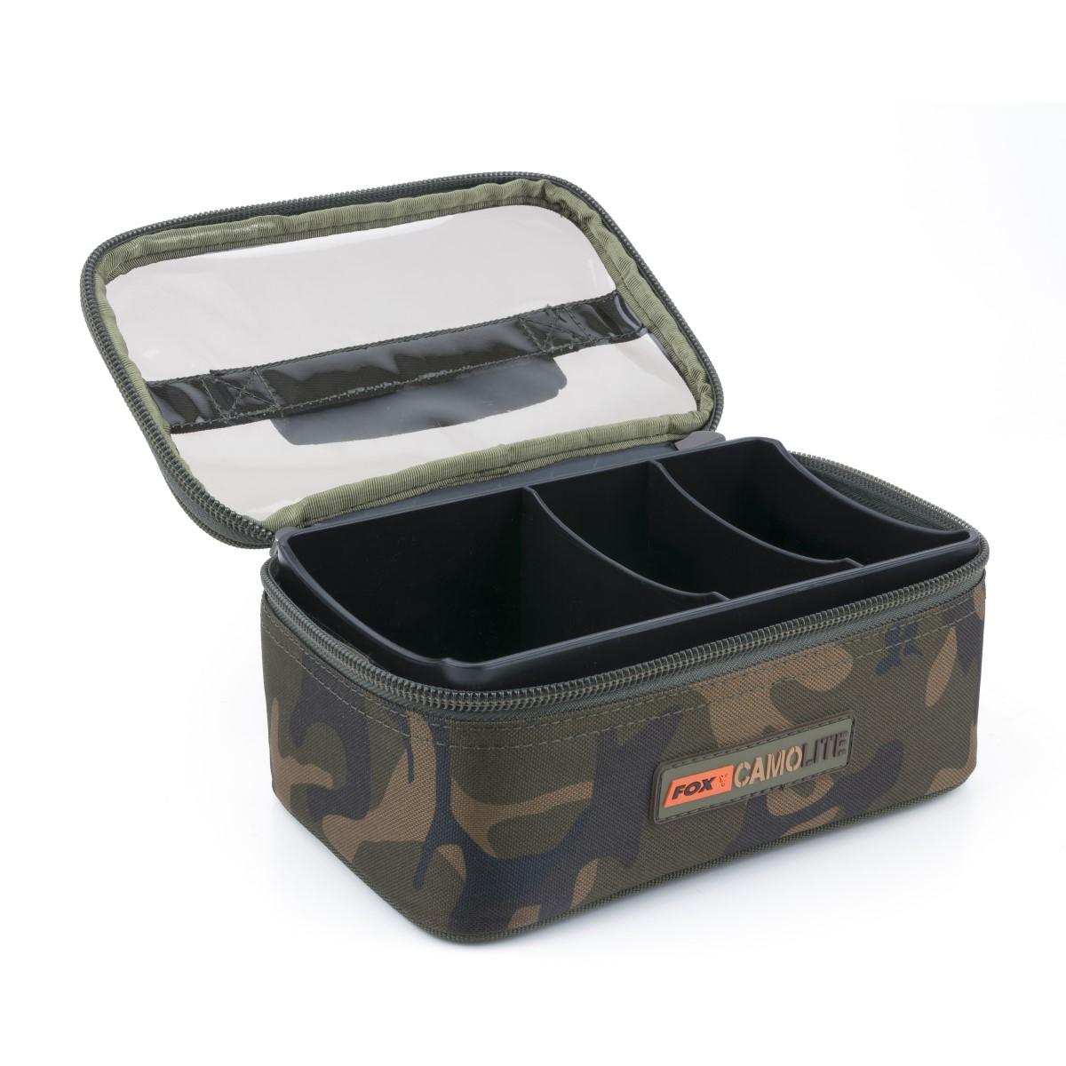 Чанта за риболовни аксесоари Fox Camolite Rigid Lead & Bits Bag