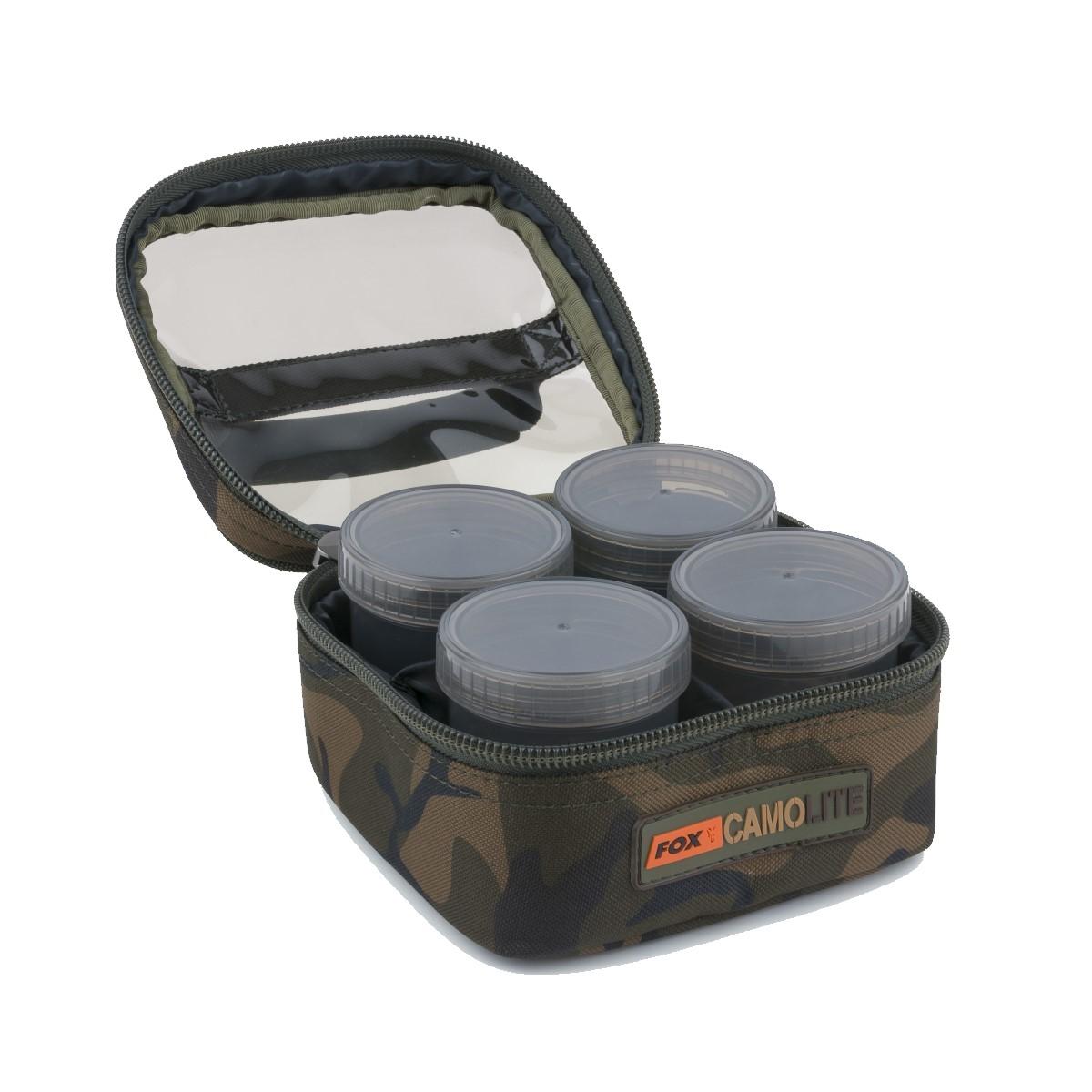 Чанта с бурканчета за стръв Fox Camolite Glug 6 Pot Case
